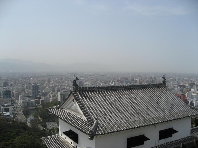 松山城より (愛媛県松山市)