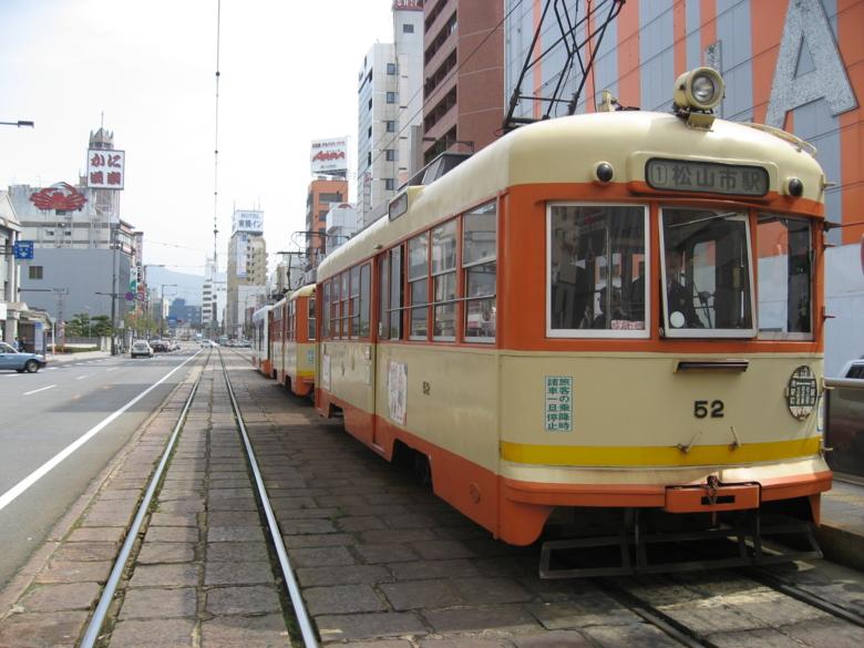 松山の路面電車 (愛媛県松山市)