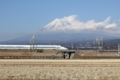 富士山と新幹線 (静岡県富士市)