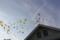 結婚式場から舞い上がる幸せの風船 (静岡県静岡市)