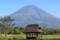 バス停と富士山 (静岡県富士宮市)