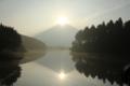 ダブルダイヤモンド富士(静岡県富士宮市田貫湖)