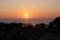 雲見からの夕日(静岡県松崎町)