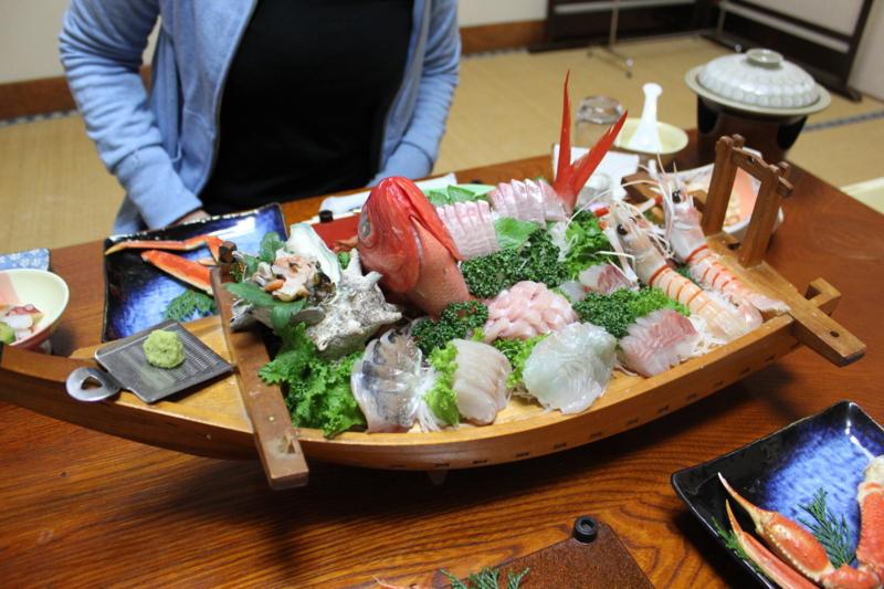 雲見温泉の船盛(静岡県松崎町)
