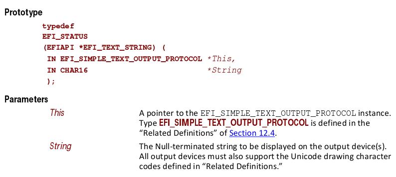 FI_SIMPLE_TEXT_OUTPUT_PROTOCOL.OutputString