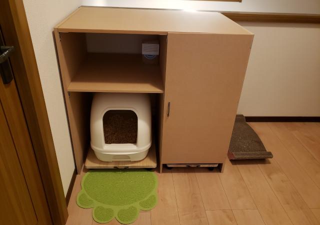 猫トイレハウス完成図