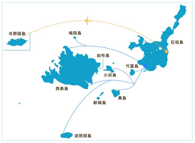 波照間島 八重山諸島の地図