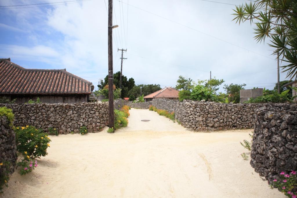竹富島の街並み