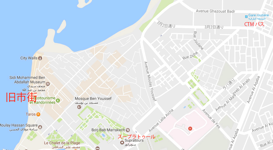 エッサウィラの地図