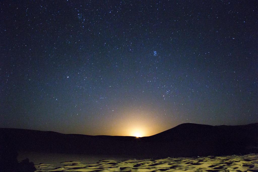 サハラ砂漠の星空