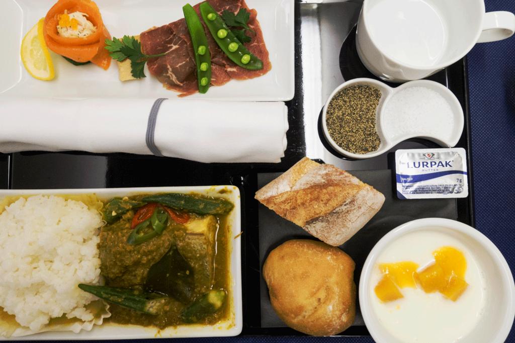 ANA国際線 B767-300 ビジネスクラス機内食