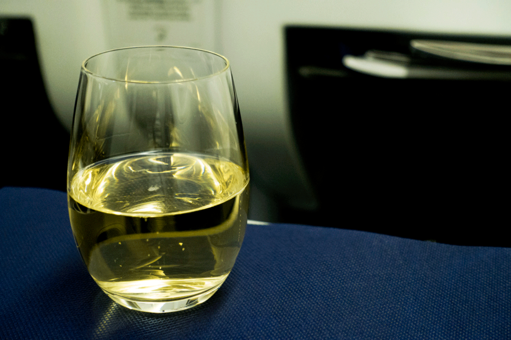 ANA国際線 B767-300 ビジネスクラス シャンパン