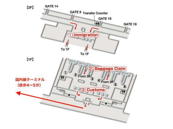 タンソンニャット国際空港フロアマップ