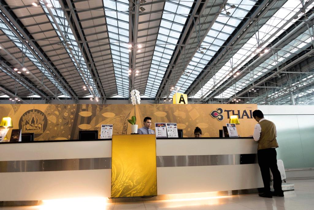 タイ国際航空 ロイヤルファーストクラスチェックイン