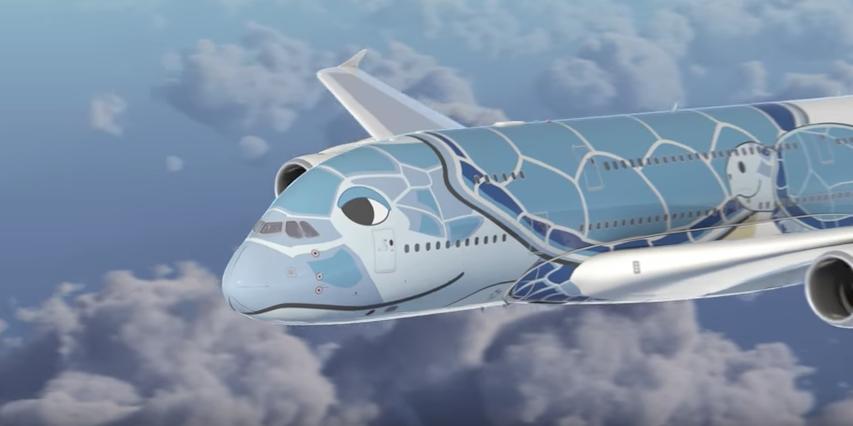 ANA ハワイ A380 FLYNG HONU