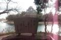 石碑と岡山城