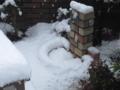 蛇口周辺に積もった雪
