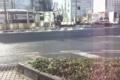 岡山駅前に残っている雪1