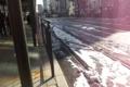 岡山駅前に残っている雪2
