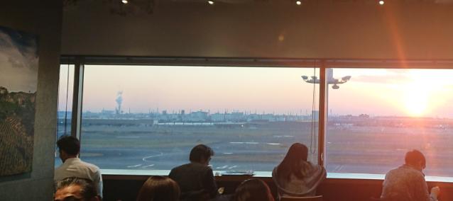 haneda-starbucks-sunset-beautiful-time