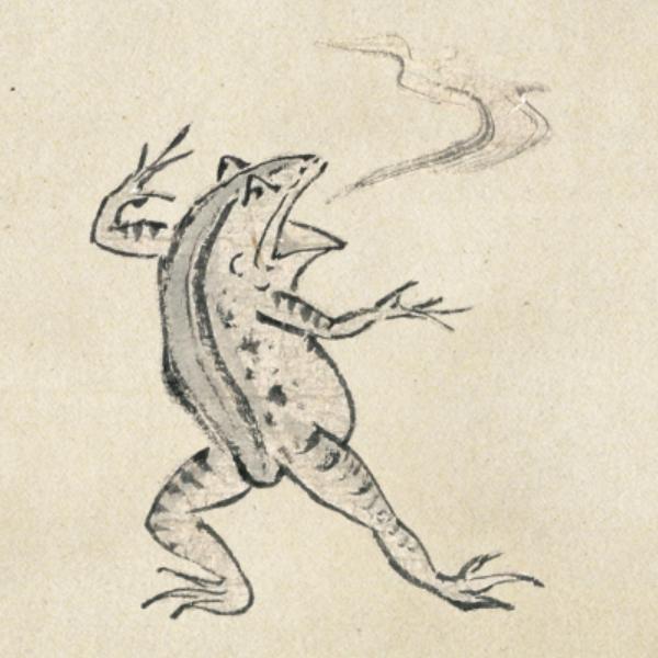 鳥獣戯画のカエル