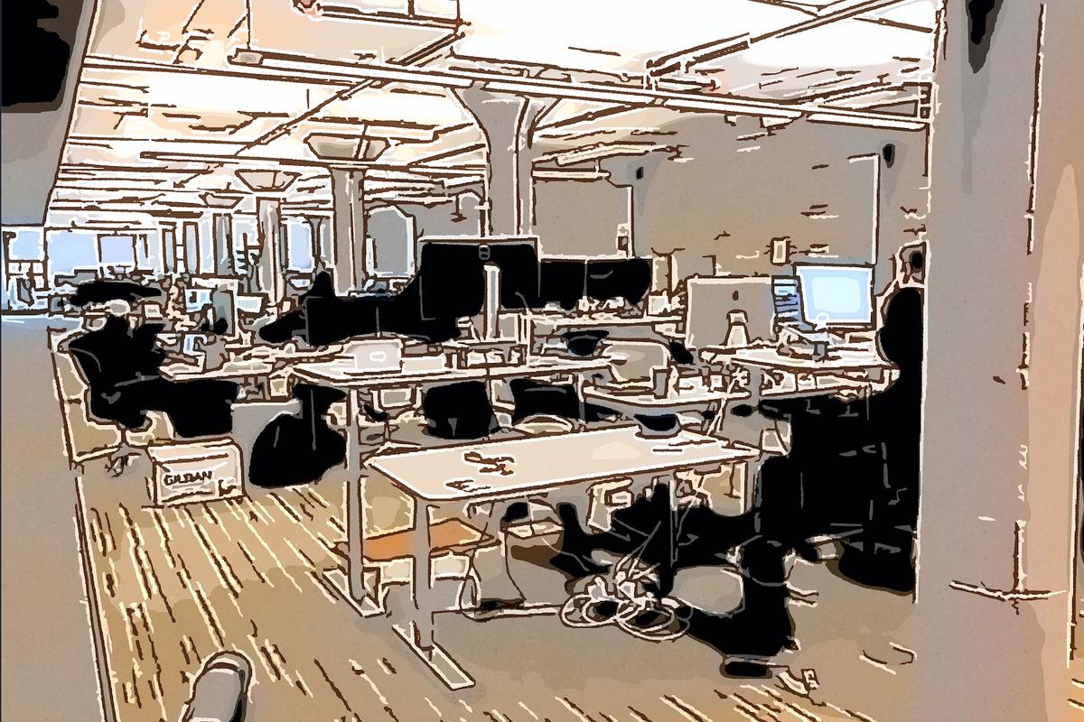 オフィス内部の雰囲気