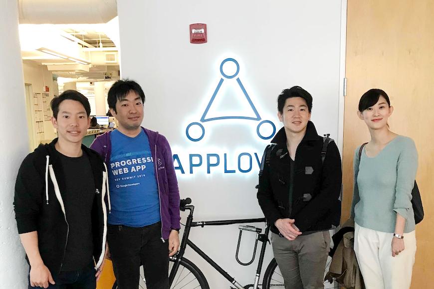 AppLovin社の中村さんとスマートニュースの海外出張組