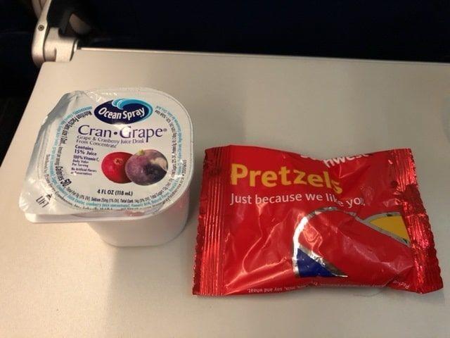 サウスウエスト航空の機内サービスの飲物