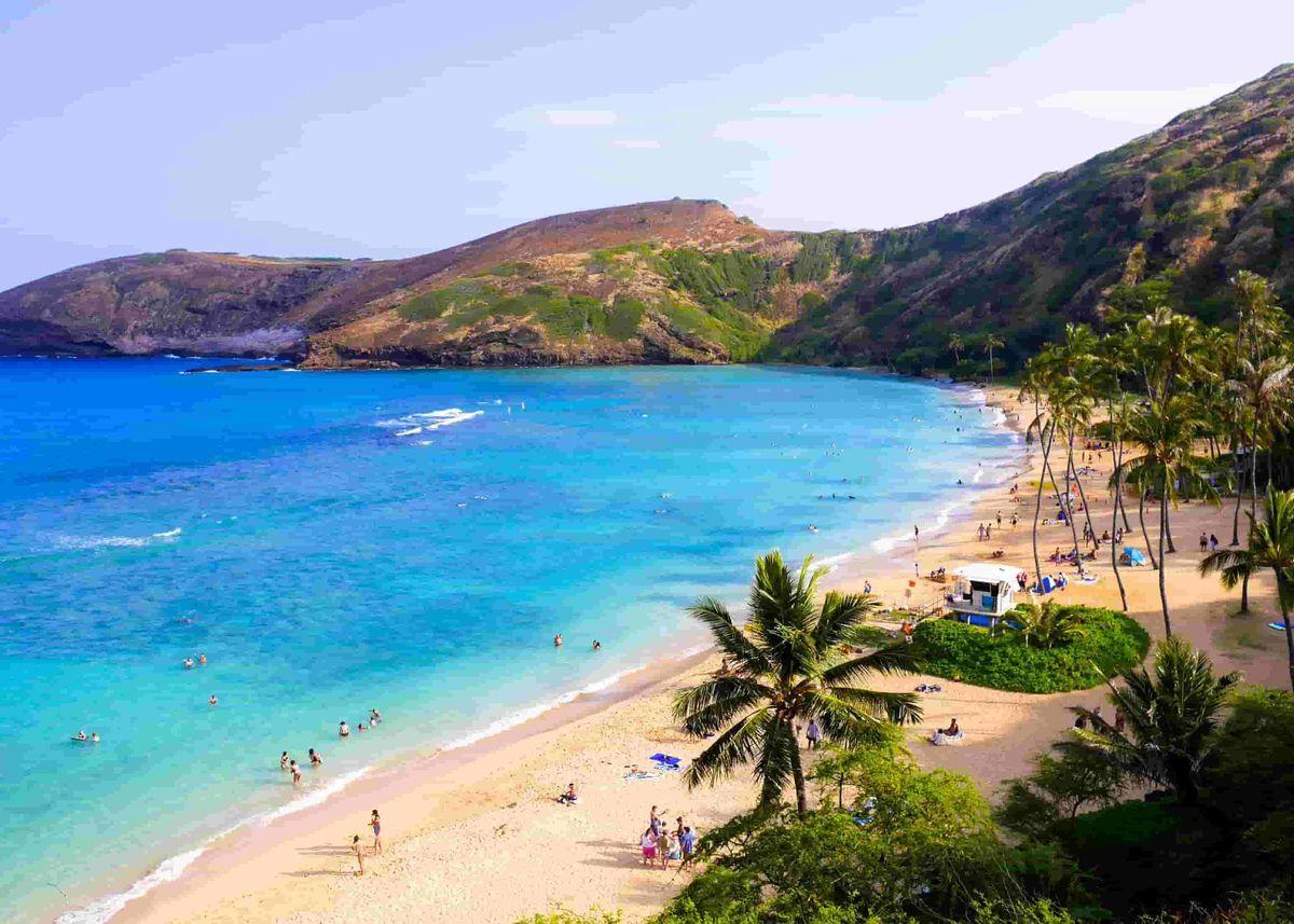 ハワイのハナウマ湾