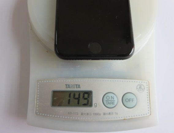 IiPhone8の計量写真