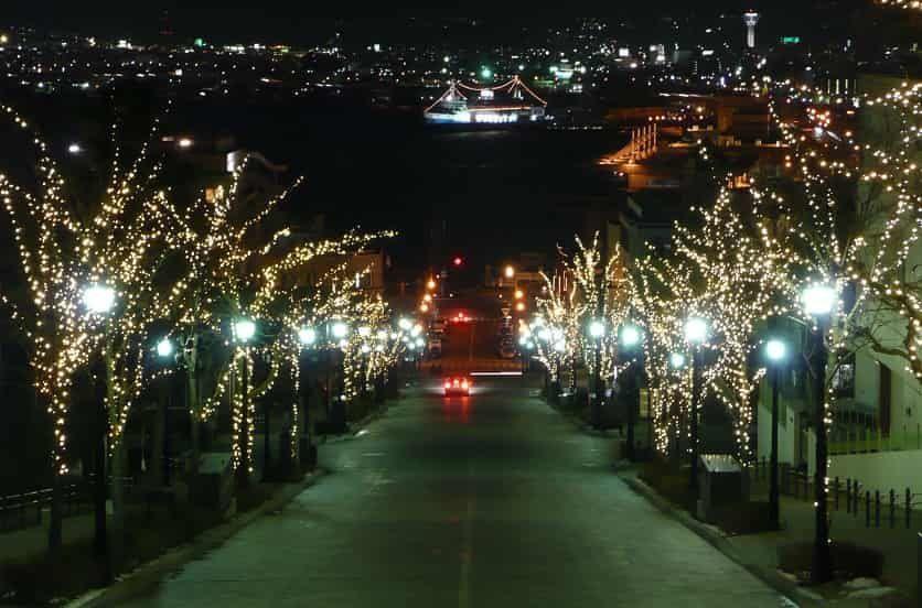 函館八幡坂夜景T