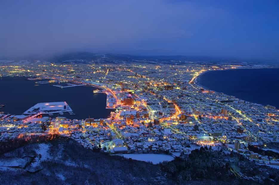 冬の函館山からの夜景