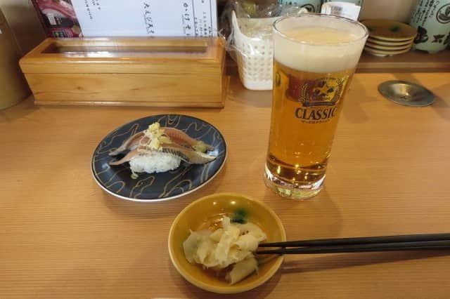 函太郎でのビール