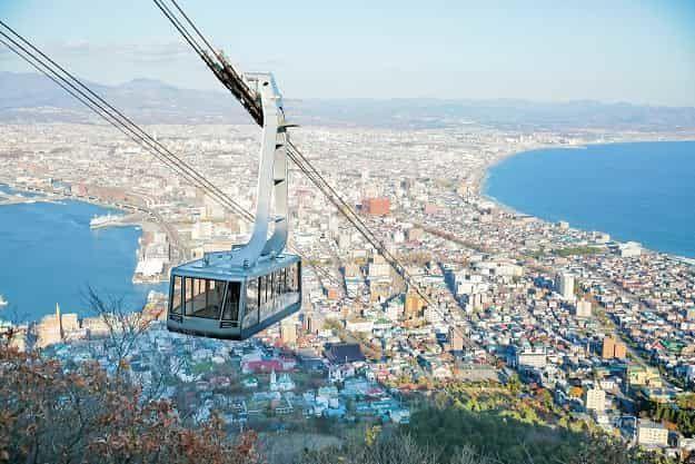 函館山から望む昼の景色