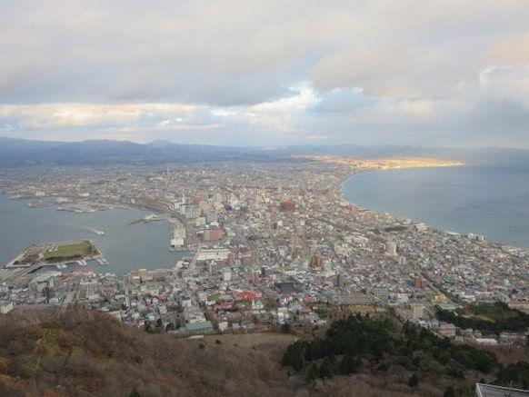 函館山山頂展望台からみる景色