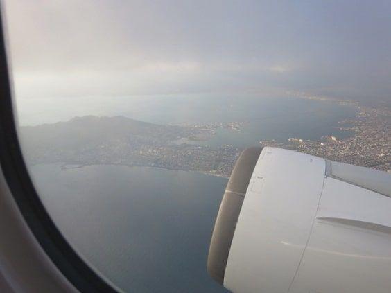 函館旅行飛行機から景色