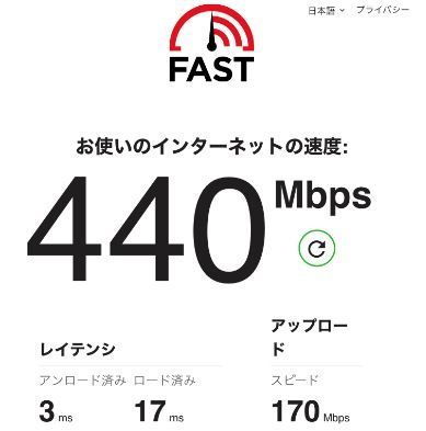iPhone8の実効速度(旧無線)