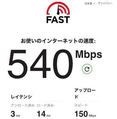 iPhone12の実効速度(旧無線)
