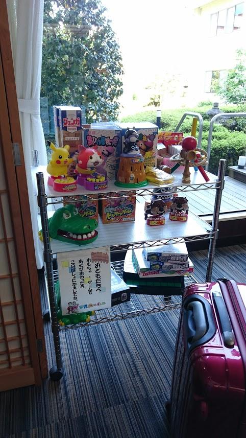 伊豆長岡京急ホテル ロビーにあるおもちゃ