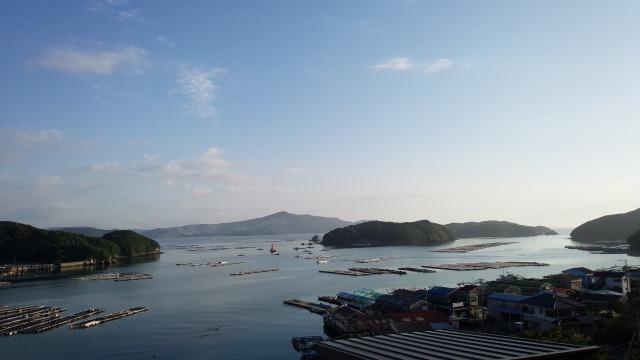 ホテルサン浦島悠季の里 窓からの風景