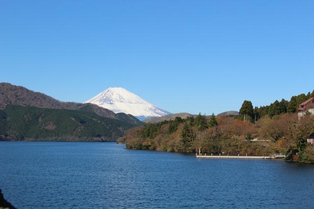 海賊船からの富士山