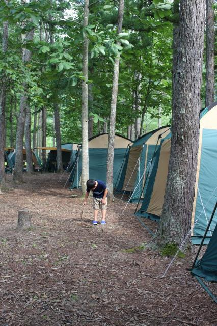 五龍館 キャンプ場