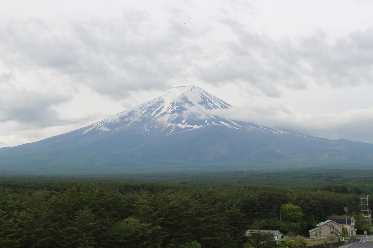 ホテルレジーナ河口湖 ベランダからの富士山