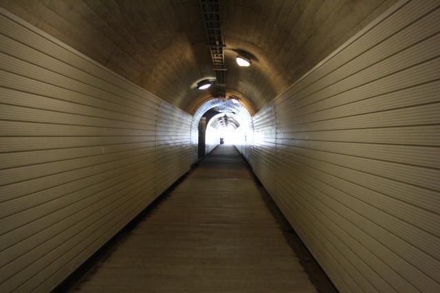 菅沼集落 トンネル