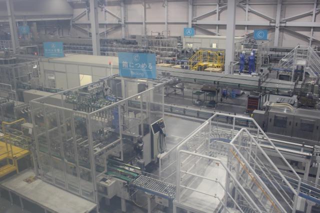 サントリー南アルプス白州工場 製造ライン