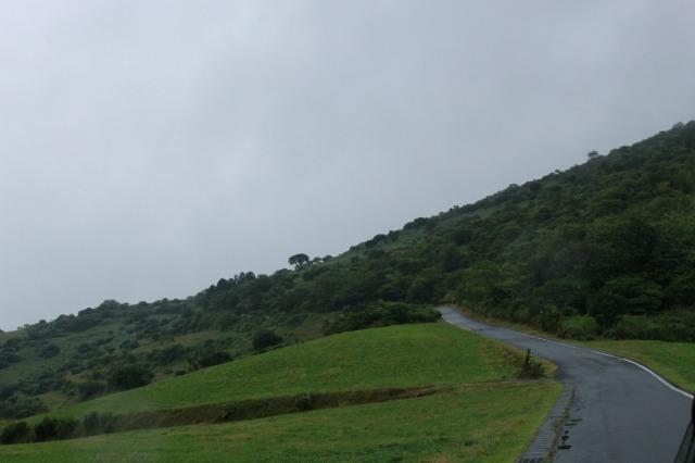 四国カルスト 雨