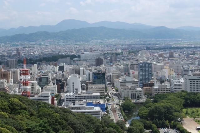 松山城 天守からの眺め