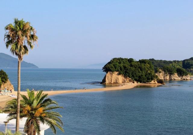 小豆島 国際ホテルから見るエンジェルロード