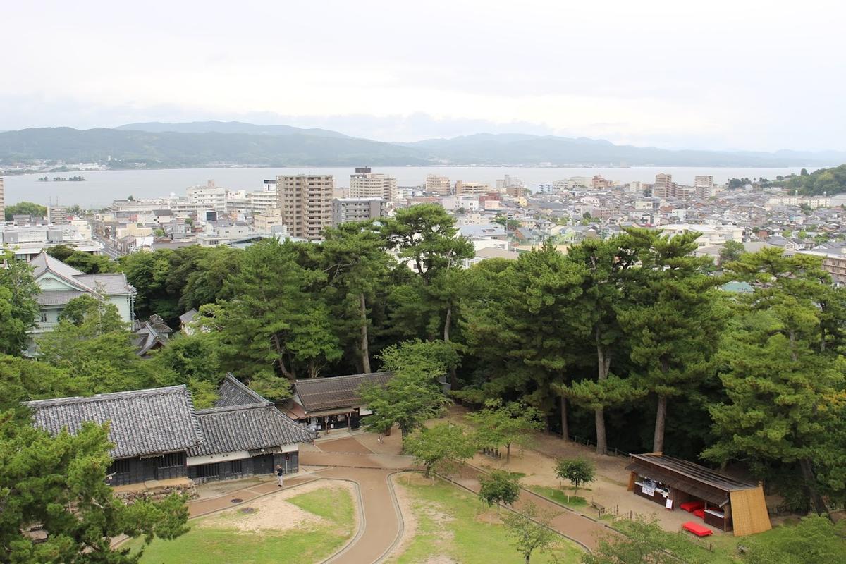 松江城 天守閣からの眺め