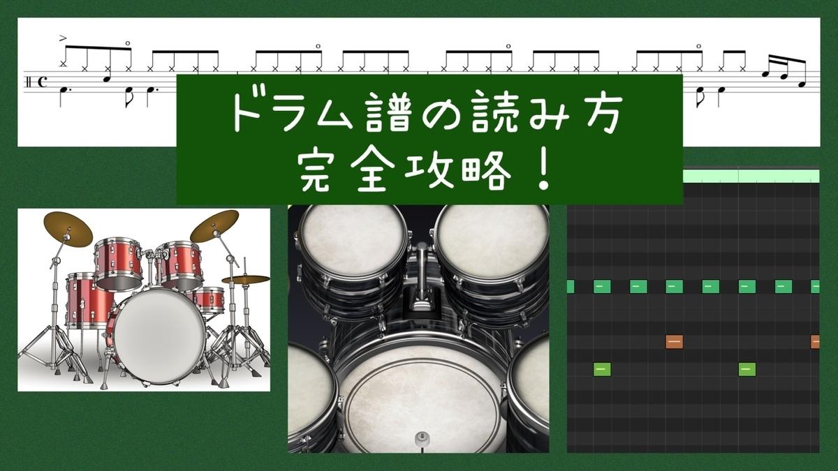 """""""ドラム譜の読み方"""